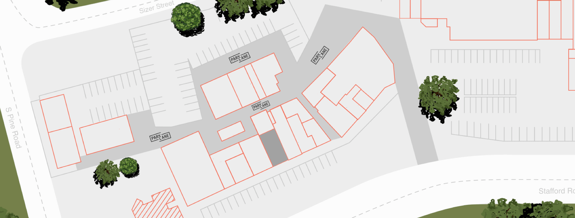 Highlighted Store In Map of Everton Plaza